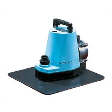 1/6 HP 1200 GPH Multi-Purpose Pool Cover Pump w/Stabilizing Plate & Automatic Switch