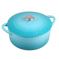 Cook and Dine 3.17-qt. Cast Iron Round Casserole
