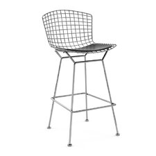"<strong>Knoll ®</strong> Bertoia 27.5"" Counter Stool with Seat Pad"