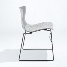 Handkerchief Stacking Side Chair with Seat Pad