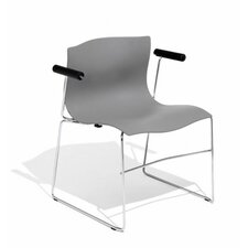 <strong>Knoll ®</strong> Handkerchief Stacking Arm Chair with Seat Pad
