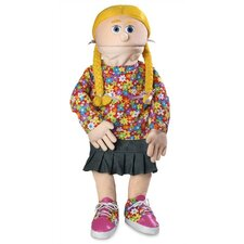 "<strong>Silly Puppets</strong> 30"" Cindy Professional Puppet with Removable Legs in Peach"