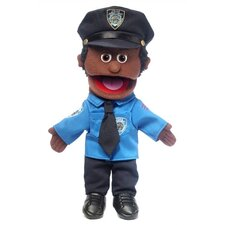 "14"" African-American Policeman Glove Puppet"