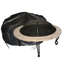 <strong>Fire Sense</strong> Large Outdoor Round Fire Pit Vinyl Cover