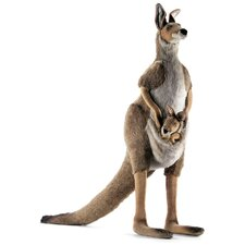 <strong>Hansa Toys</strong> Life Size Kangaroo and Joey Stuffed Animals
