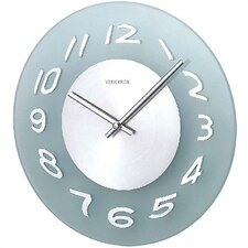 Glass Wall Clock in Aluminum