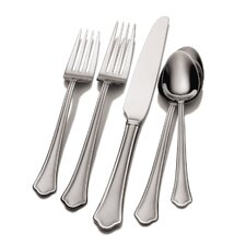Capri 53 Piece Frost Flatware Set