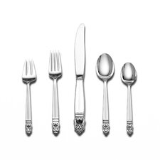 Royal Danish 5 Piece Dinner Flatware Set with Cream Soup Spoon