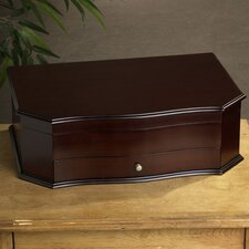 Dark Walnut Bow Front Drawer Chest