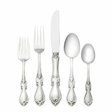 Sterling Silver Queen Elizabeth 5 Piece Dinner Flatware Set