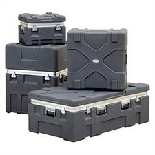 "RX Series: Rugged Roto-X Shipping Foot Locker Case:  33"" H x 34 1/8"" W x 28 5/16"" D (outside)"