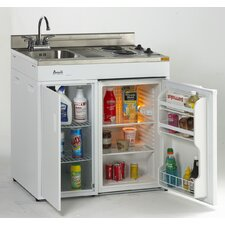 3 Cu. Ft. Compact Refrigerator with Built - In Sink and Stovetop