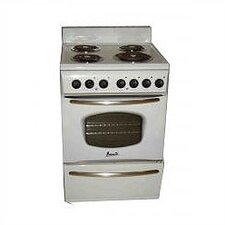 "24"" Electric Range in White"