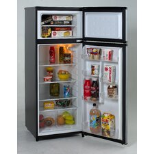 7.4 CF Ft 2 Door Apartment Size Refrigerator