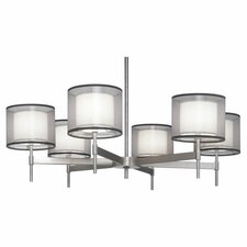 <strong>Robert Abbey</strong> Saturnia 6 Light Chandelier