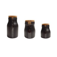 Vertical 3-Piece Storage Jar