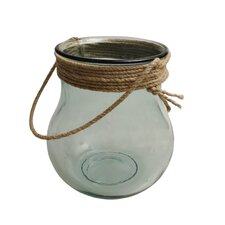 Nautical Lantern Vase with Rope Top