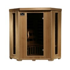 <strong>Radiant Saunas</strong> 3 Person Corner Carbon FAR Infrared Sauna