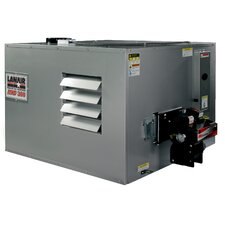 MX-Series 300,000 BTU Ductable Waste Oil Heater with Wall Chimney and 215 gal Tank