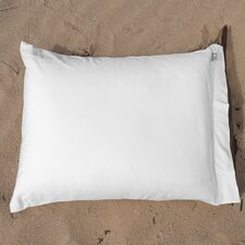 Cotton Jersey Plain Pillowcase in White (set of 2)