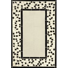 Sawgrass Mills Mosaic Black Indoor/Outdoor Rug