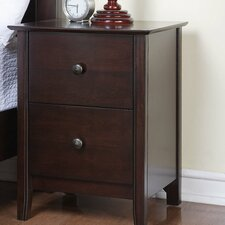 <strong>Vantage Fine Furniture</strong> Townhouse 2 Drawer Nightstand
