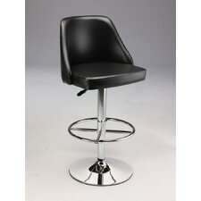 <strong>Creative Images International</strong> Adjustable Swivel Bar Stool with Cushion