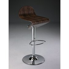 Swivel Barstool with Gas Lift in Tiger Wood