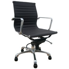 Low Back Leatherette Office Chair with Chrome Base