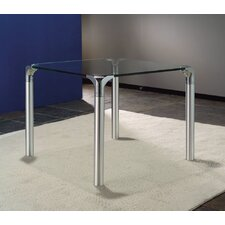 <strong>Creative Images International</strong> Glass Top End Table With Chrome Base