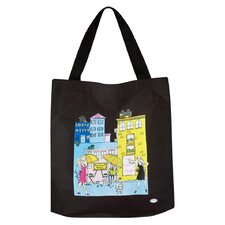 European Inspired Totes Cafe Deux Lumps Cafe Bag in Black