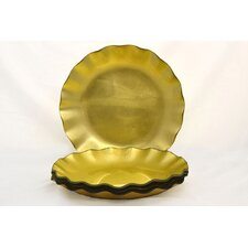 "Tango Precious Metal Glass 11"" Dinner Plate"