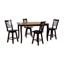 Santa Fe 5 Piece Counter Height Dining Set