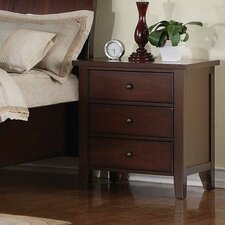 Vintage 3 Drawer Nightstand