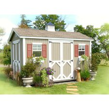 "12'1"" W x 12'1"" D Wood Garden Shed"