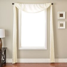<strong>Softline Home Fashions</strong> Gigi 6 Yard Rod Pocket Single Window Scarf