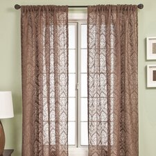 <strong>Softline Home Fashions</strong> Badi Medallion Rod Pocket Curtain Single Panel
