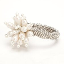 Floral Pearl Napkin Rings (Set of 4)