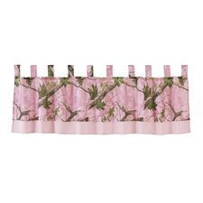 <strong>HiEnd Accents</strong> Pink Oak Camo Curtain Valance