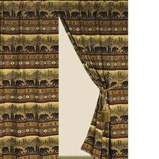 Bear Rod Pocket Curtain Single Panel