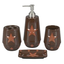 Star 4 Piece Bathroom Set