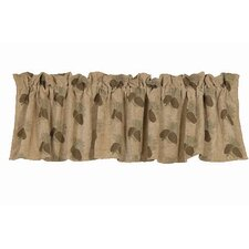 Pine Cones Rod Pocket Tailored Curtain Valance