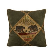 <strong>HiEnd Accents</strong> Bear Diamond Shape Polyester Pillow