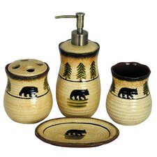 Bear 4 Piece Bathroom Set