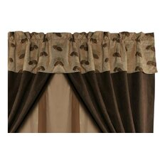 "Pine Cones Rod Pocket Tailored 84"" Curtain Valance"