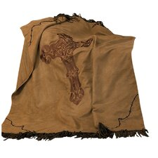 Crosses Barbwire Faux Suede Throw