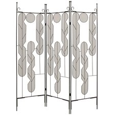 "73"" x 58' Art Screen 3 Panel Room Divider"