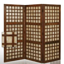 "64"" x 70"" Capice Square Decorative 3 Panel Room Divider"