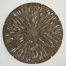 Round Wall Décor - Aged Tree Cross-Section (Set of 2)