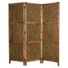 "73"" x 63"" Evergreen Screen 3 Panel Room Divider"